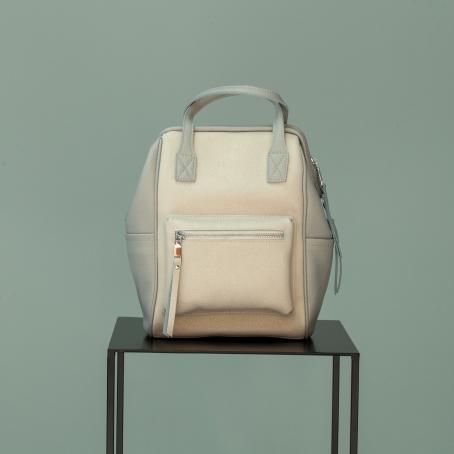 Рюкзак URBAN zip, серебро-белый