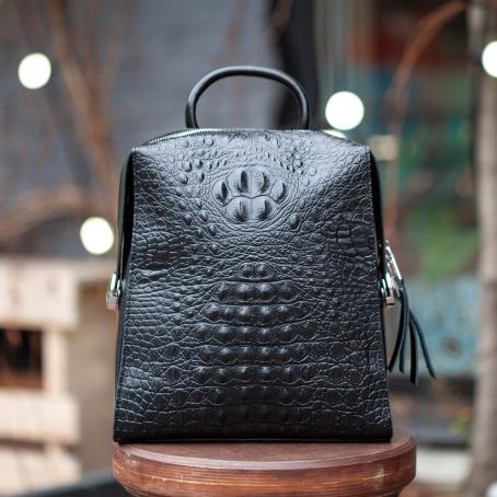 Рюкзак LAVI croc, черный