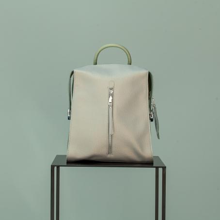 Рюкзак LAVI zip, серый перламутр-мятный