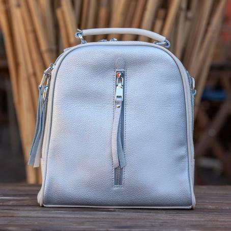 Рюкзак-сумка NAVI, серебристо-белый