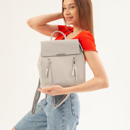 Рюкзак LINDA ST, серый перламутр