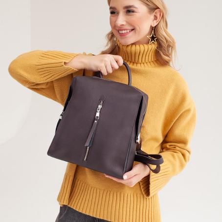 Рюкзак LaVI zip, коричневый